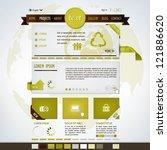website design template | Shutterstock .eps vector #121886620