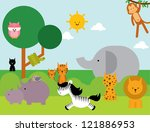 animals vector illustration | Shutterstock .eps vector #121886953