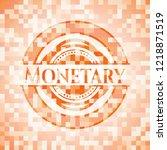 monetary orange tile background ... | Shutterstock .eps vector #1218871519