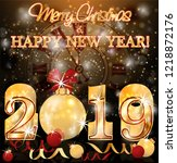 happy new 2019  year background ... | Shutterstock .eps vector #1218872176