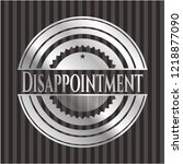 disappointment silver emblem | Shutterstock .eps vector #1218877090
