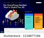website template for cloud... | Shutterstock .eps vector #1218877186