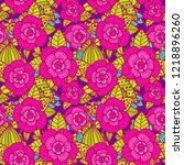beautiful floral pattern....   Shutterstock .eps vector #1218896260