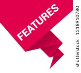 features sign label. features... | Shutterstock .eps vector #1218910780