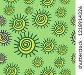 sun seamless  pattern . hand... | Shutterstock .eps vector #1218914326