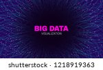 futuristic portal concept. big... | Shutterstock .eps vector #1218919363