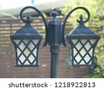 old lighting twin and balance | Shutterstock . vector #1218922813