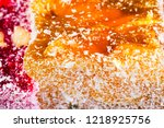 sweets soft candy nougat... | Shutterstock . vector #1218925756