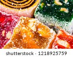 sweets soft candy nougat... | Shutterstock . vector #1218925759