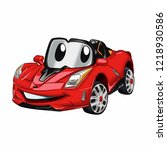 fast car cartoon   red car... | Shutterstock .eps vector #1218930586