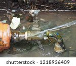 leaked at water miter are being ...   Shutterstock . vector #1218936409