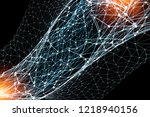 concept of global networking | Shutterstock . vector #1218940156