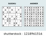 vector sudoku with answer 223....   Shutterstock .eps vector #1218961516