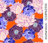 trendy seamless pattern with... | Shutterstock .eps vector #1218962533