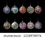 3d christmas decoration balls ... | Shutterstock .eps vector #1218978976