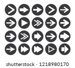 arrow sign icon set. vector... | Shutterstock .eps vector #1218980170