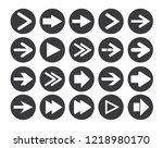 arrow sign icon set. vector... | Shutterstock .eps vector #1218980170