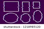 trendy glitch effect. set of... | Shutterstock .eps vector #1218985120