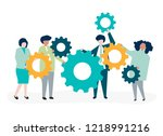 characters of business people... | Shutterstock .eps vector #1218991216