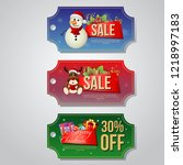 christmas sale coupon template... | Shutterstock .eps vector #1218997183