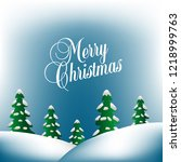 merry christmas background with ... | Shutterstock .eps vector #1218999763