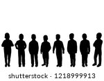 vector  isolated  silhouette... | Shutterstock .eps vector #1218999913