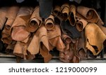 different pieces of leather in... | Shutterstock . vector #1219000099