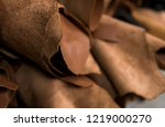 different pieces of leather in... | Shutterstock . vector #1219000270