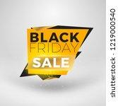 black friday sale sticker.... | Shutterstock .eps vector #1219000540