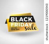 black friday sale sticker.... | Shutterstock .eps vector #1219000543