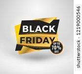 black friday sale sticker.... | Shutterstock .eps vector #1219000546
