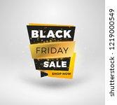 black friday sale sticker.... | Shutterstock .eps vector #1219000549