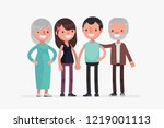 cute families isolated vector... | Shutterstock .eps vector #1219001113