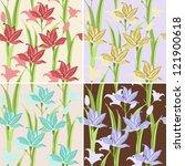 seamless lily flower | Shutterstock .eps vector #121900618