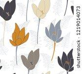 tulips or crocuses vector... | Shutterstock .eps vector #1219014073