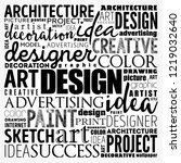 design word cloud collage ... | Shutterstock .eps vector #1219032640
