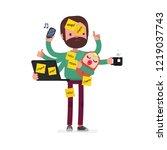 multitask vector illustration | Shutterstock .eps vector #1219037743