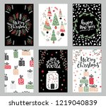 collection of christmas... | Shutterstock .eps vector #1219040839