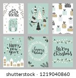 collection of christmas... | Shutterstock .eps vector #1219040860