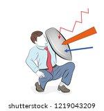 business concept vector...   Shutterstock .eps vector #1219043209