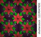floral pattern. flourish... | Shutterstock .eps vector #1219047850