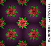 flat flower elements design... | Shutterstock .eps vector #1219047886