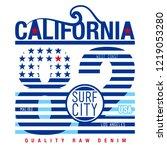 california lettering  american... | Shutterstock .eps vector #1219053280