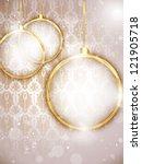 vector   merry christmas gold... | Shutterstock .eps vector #121905718