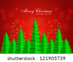 merry christmas stylish green... | Shutterstock .eps vector #121905739