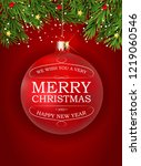 merry christmas and new year... | Shutterstock .eps vector #1219060546