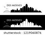 des moines skyline   iowa ...   Shutterstock .eps vector #1219060876