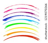 vector set of colorful brush... | Shutterstock .eps vector #1219070266