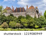 external view of guimaraes... | Shutterstock . vector #1219080949