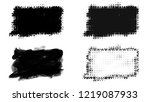 set of brush stroke and... | Shutterstock . vector #1219087933